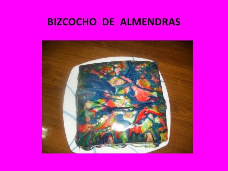 BIZCOCHO DE ALMENDRAS