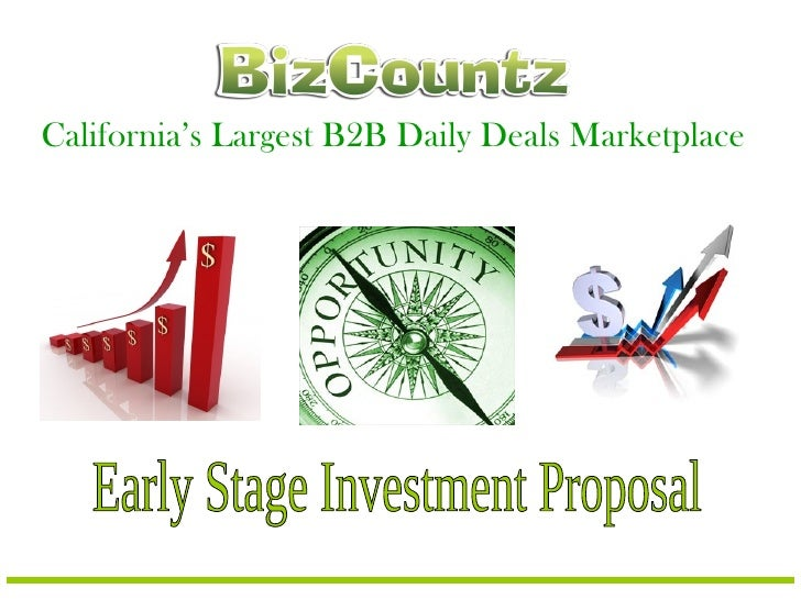 California's Largest B2B Daily Deals Marketplace Early Stage Investment Proposal