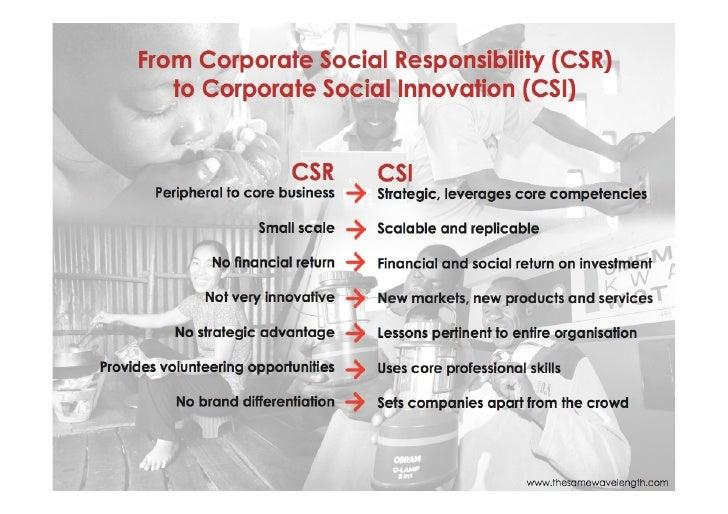 CSR to CSI
