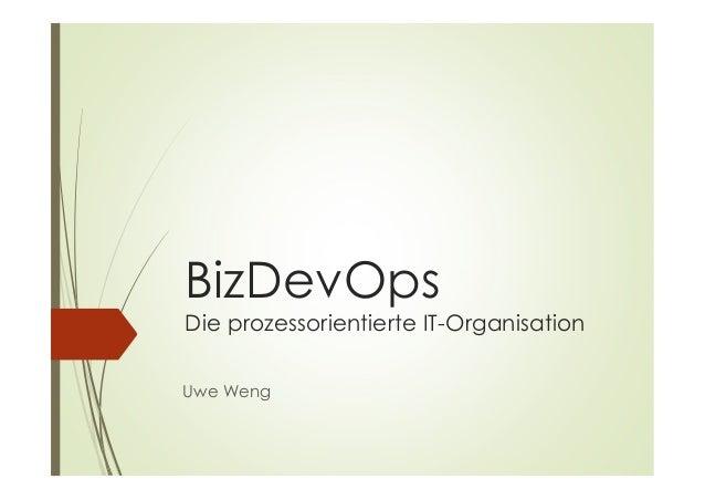 BizDevOps Die prozessorientierte IT-Organisation Uwe Weng