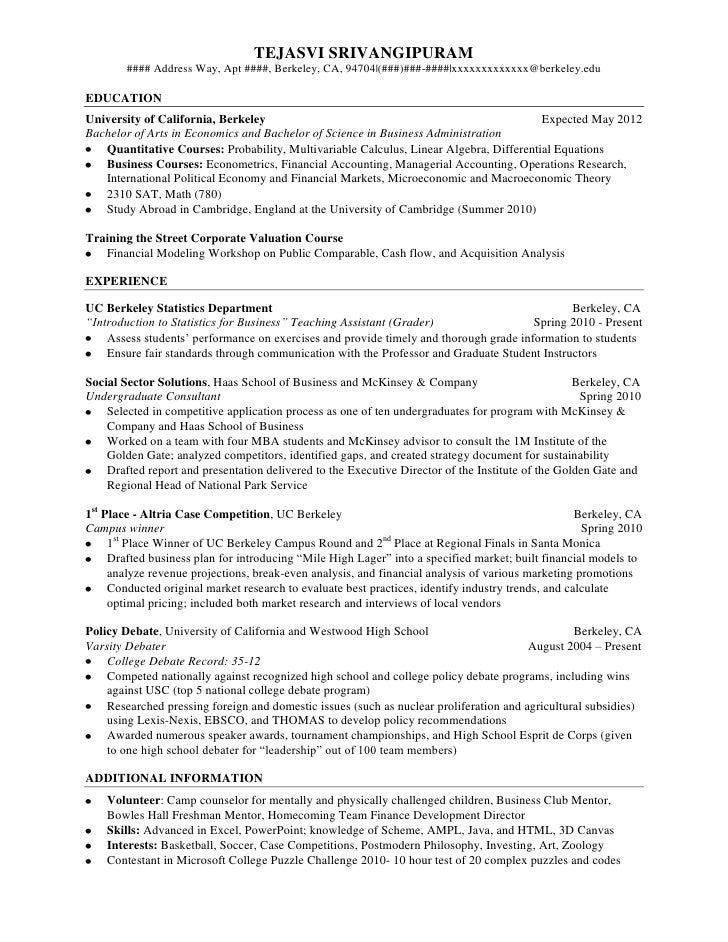Perfect SlideShare  Resume Double Major