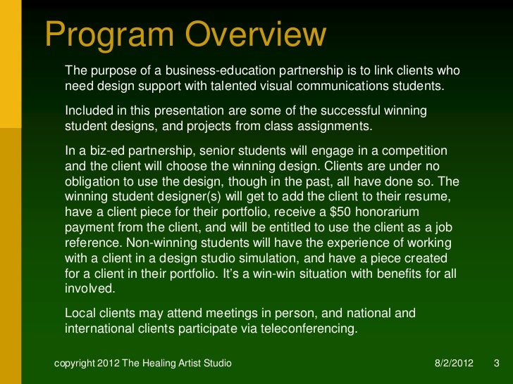 business-education partnership proposal