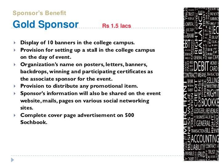 cover letter for sponsorship proposal