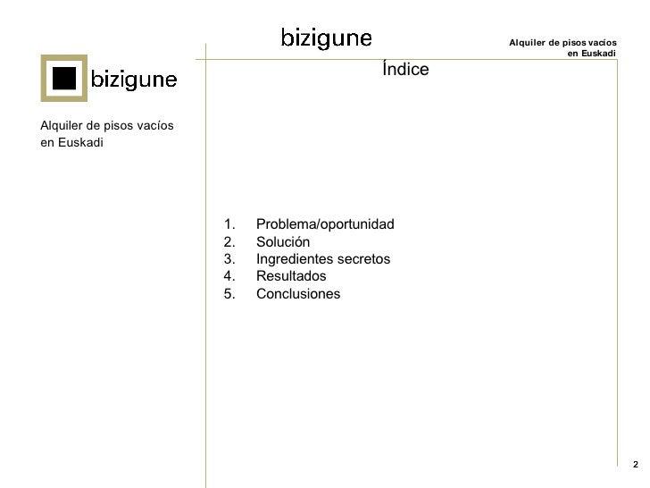 Bizigune: alquiler de viviendas vacías en el País Vasco Slide 2