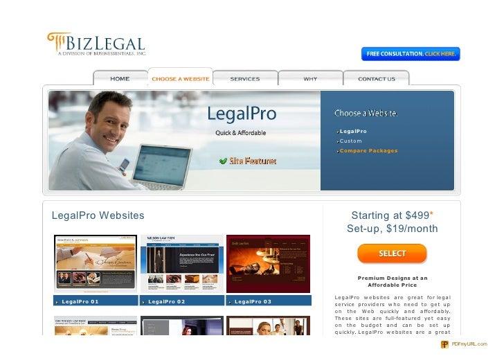 LegalPro                                                  Custom                                                  Compare ...
