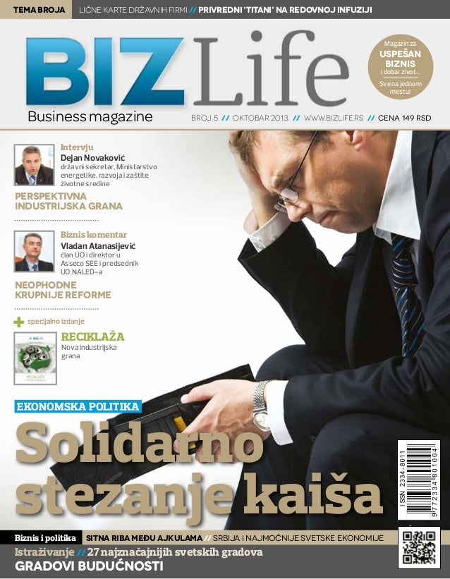 tema broja  Lične karte državnih firmi // Privredni 'titani' na redovnoj infuziji  Magazin za  uspešan biznis i dobar živo...