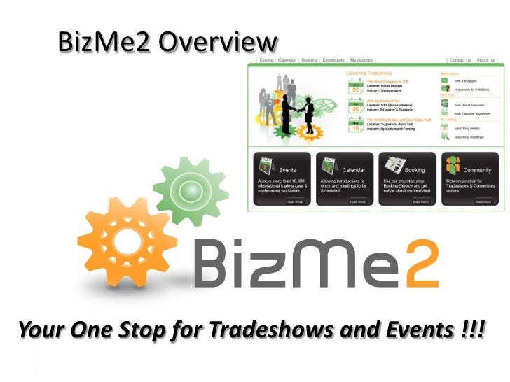 BizMe2 Overview<br />Your One Stop for Tradeshows and Events !!!<br />