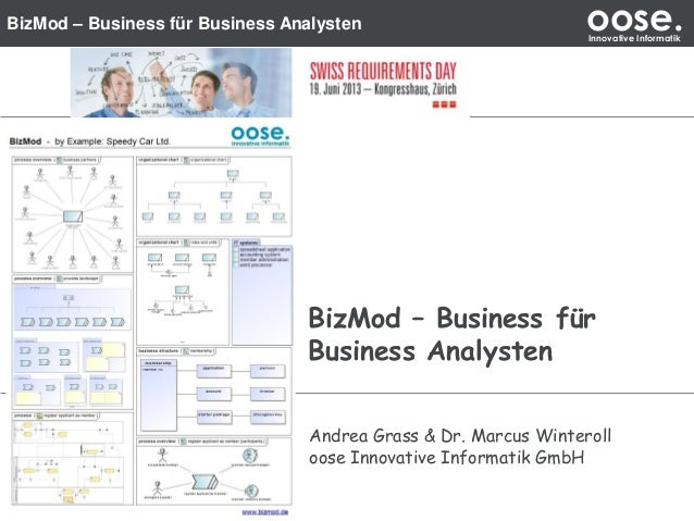 BizMod – Business für Business Analysten oose.Innovative Informatik BizMod – Business für Business Analysten Andrea Grass ...