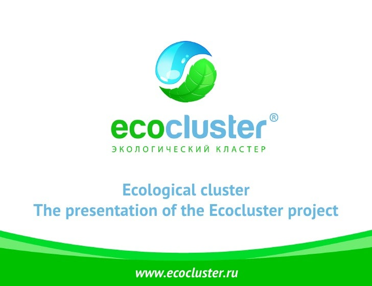 Ecological clusterThe presentation of the Ecocluster project              www.ecocluster.ru