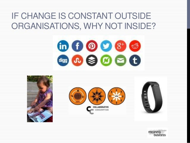 IF CHANGE IS CONSTANT OUTSIDE  ORGANISATIONS, WHY NOT INSIDE?
