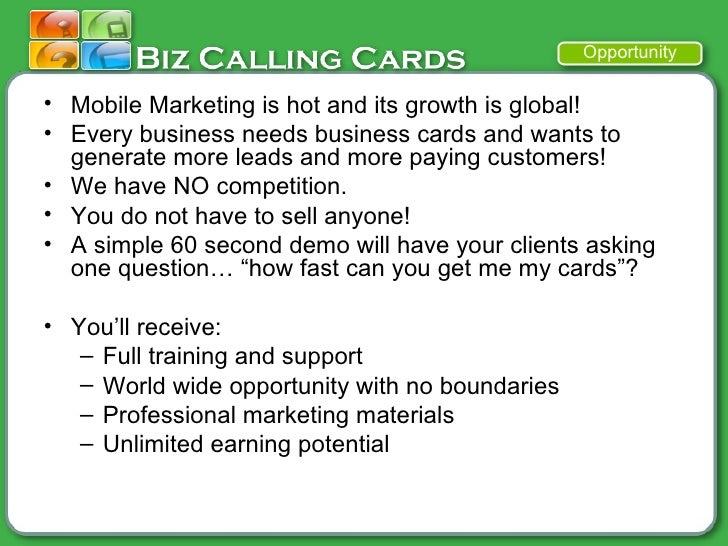 Biz mobile marketing business cards with text message advertising 21 colourmoves