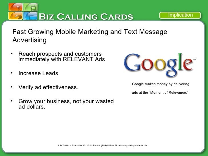Biz mobile marketing text message advertising business cards 9 fast growing mobile marketing and text message colourmoves