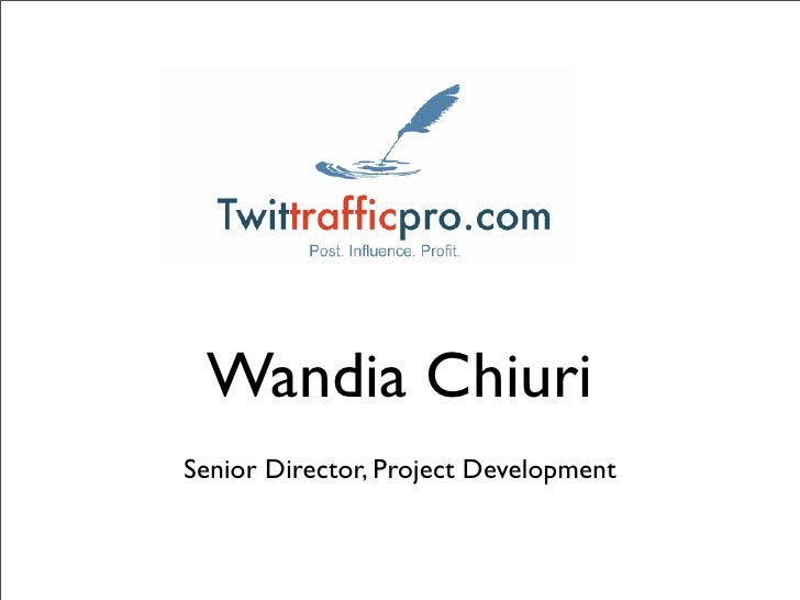 Wandia Chiuri Senior Director, Project Development