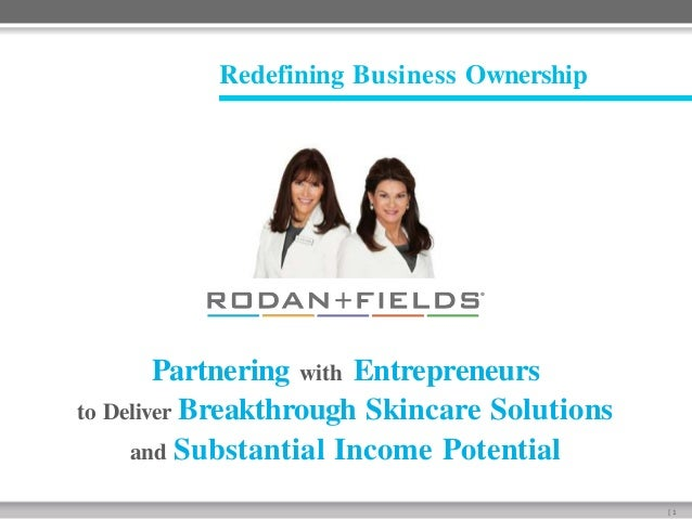 Redefining Business Ownership  Partnering with Entrepreneurs to Deliver Breakthrough Skincare Solutions and Substantial In...