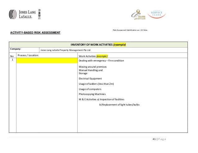 manual handling risk assessment form template