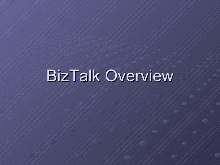 BizTalk Overview