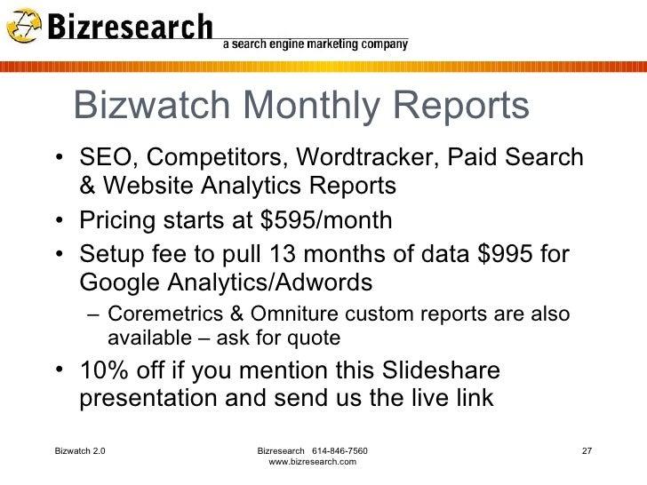 Bizresearch Announces Bizwatch™ New Search Analytics ...