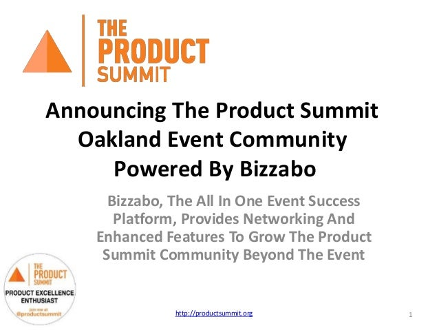 Announcing The Product Summit Oakland Event Community Powered By Bizzabo Bizzabo, The All In One Event Success Platform, P...