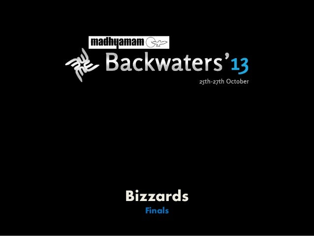 Bizzards Finals