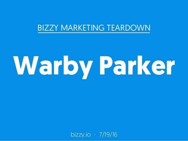 warby parker marketing strategy