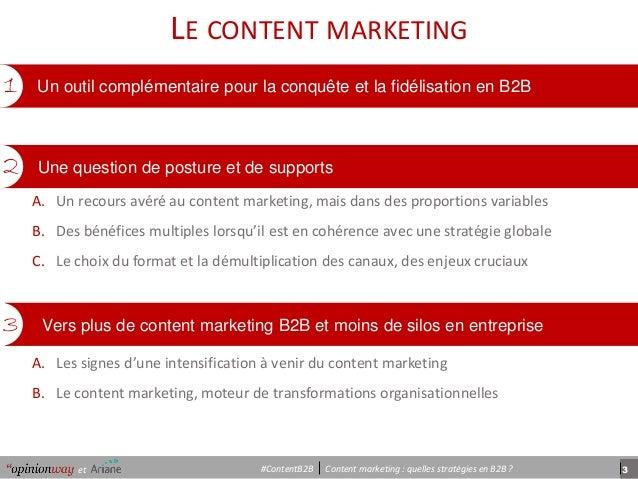 3et Content marketing : quelles stratégies en B2B ?#ContentB2B « Notre mission est de permettre à nos clients de comprendr...