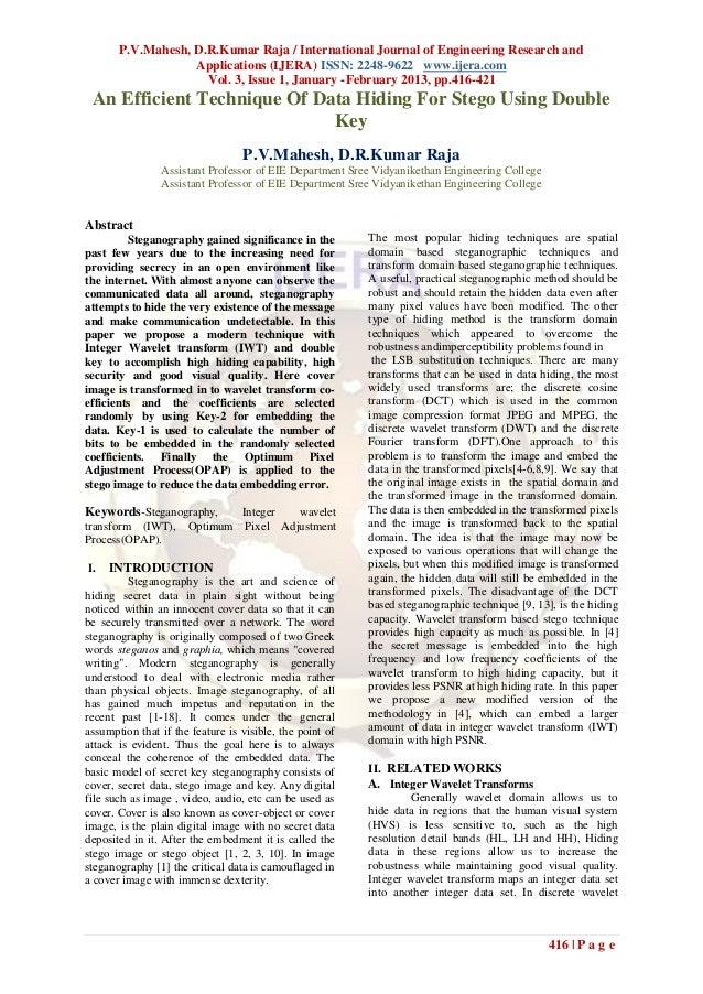 P.V.Mahesh, D.R.Kumar Raja / International Journal of Engineering Research and                   Applications (IJERA) ISSN...
