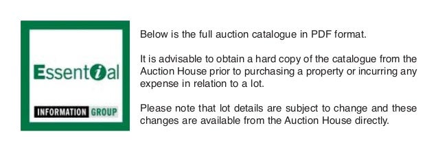 Below is the full auction catalogue in PDF format.It is advisable to obtain a hard copy of the catalogue from theAuction H...