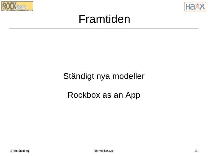 Presentation av Rockbox
