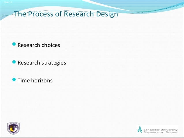 Business Research Methods Session 6 Research Design
