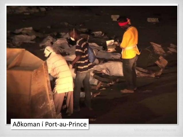 Aðkoman í Port-au-Prince