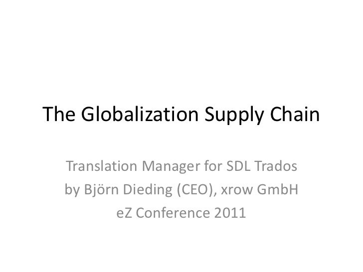 The GlobalizationSupply Chain<br />Translation Manager for SDL Trados<br />by Björn Dieding (CEO), xrow GmbH<br />eZ Confe...