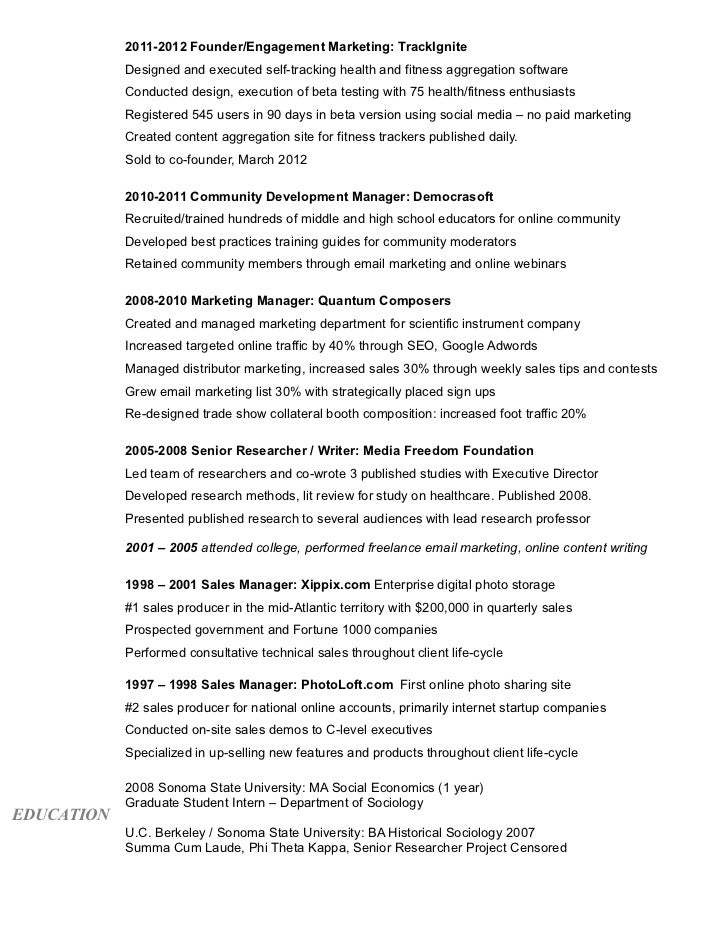 Digital Marketing Resume Of Bridget Thornton