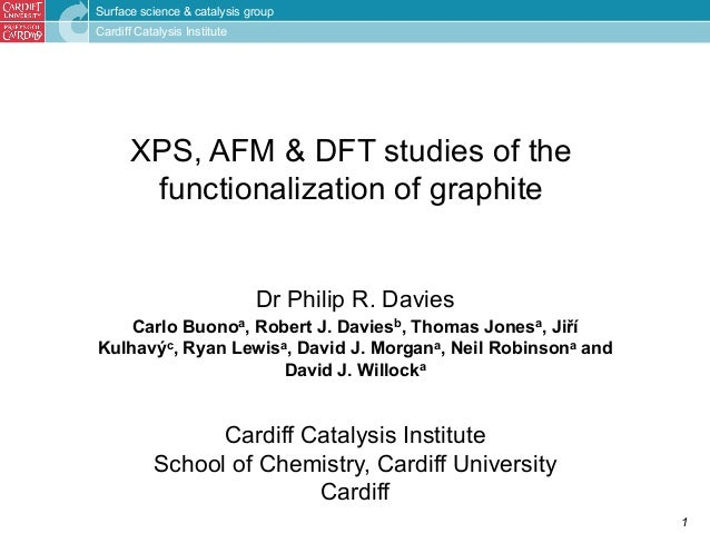Surface science & catalysis group  Cardiff Catalysis Institute  1  XPS, AFM & DFT studies of the  functionalization of gra...