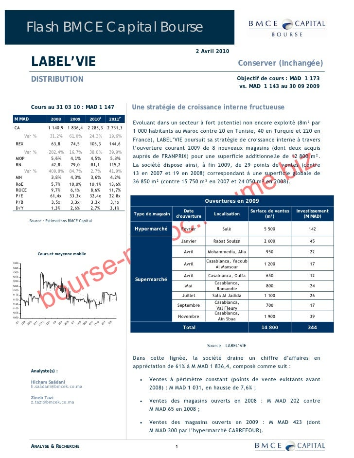 Flash BMCE Capital Bourse                                                                                                 ...