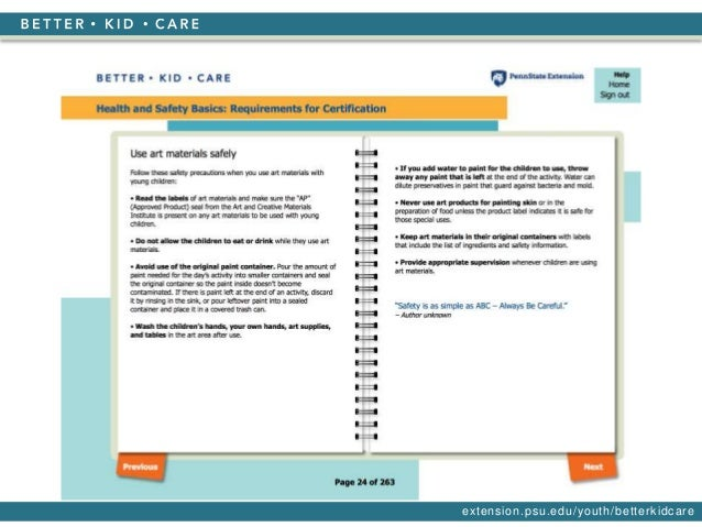 Ccdbg Health And Safety Basics Requirements For