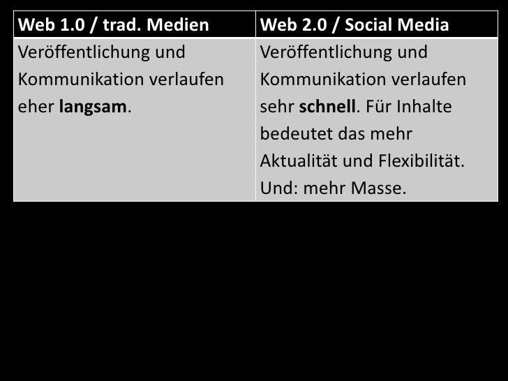 Hauptnutzungsart: Kommunikation</li></li></ul><li>traditionelle Medien / Web 1.0 versus Web 2.0 / Social Media<br />ZDF, F...