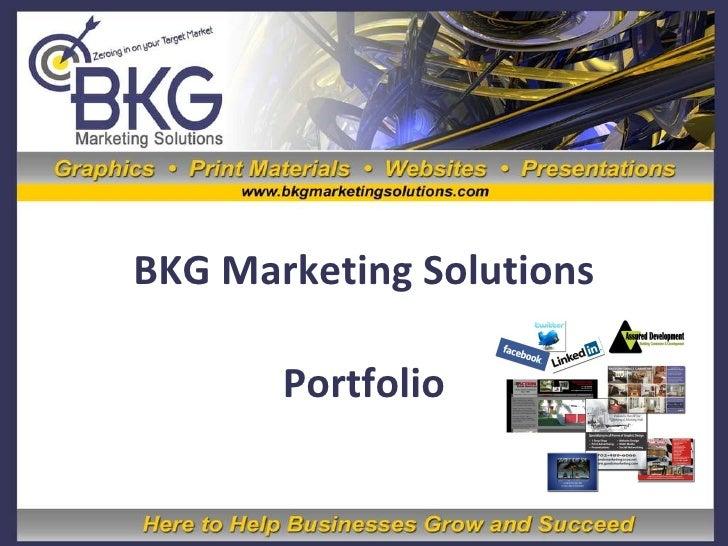 BKG Marketing Solutions Portfolio