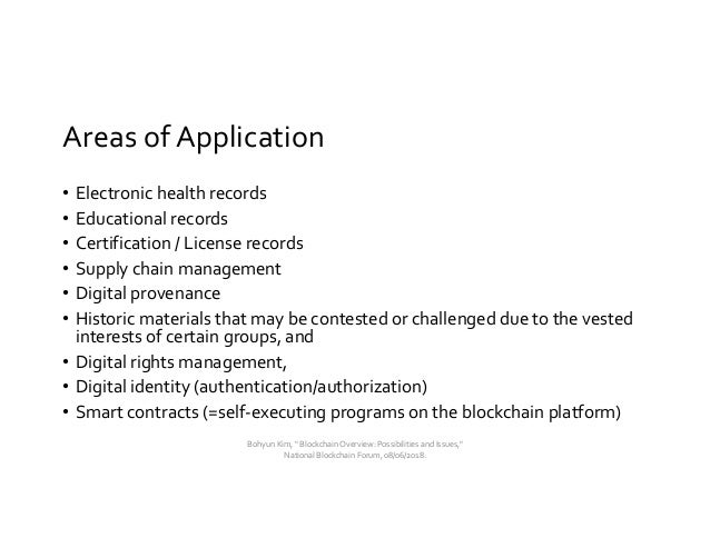 Blockchain Overview: Possibilities and Issues Slide 3
