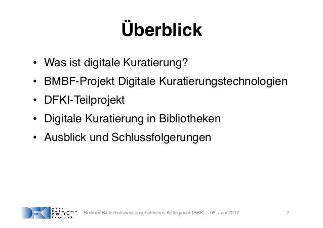 Digitale Kuratierungstechnologien: Anwendungsfälle in Digitalen Bibliotheken Slide 2