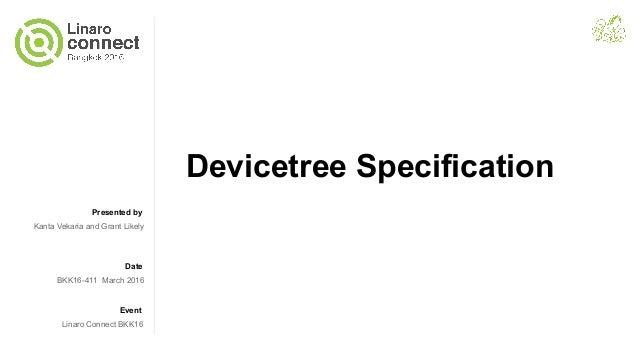 BKK16-411 Devicetree Specification