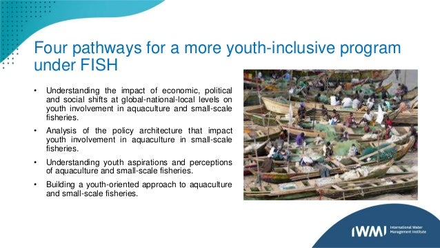 Four pathways for a more youth-inclusive program under FISH • Understanding the impact of economic, political and social s...