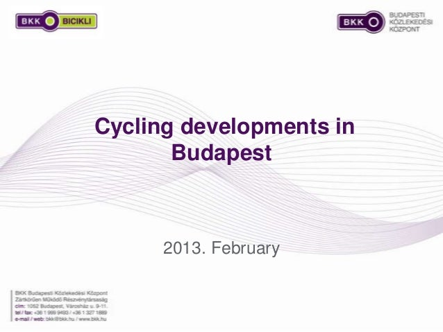 Cycling developments in Budapest 2013. February