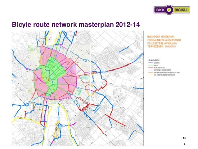 Bicyle route network masterplan 2012-14 2013. 08. 11. 15