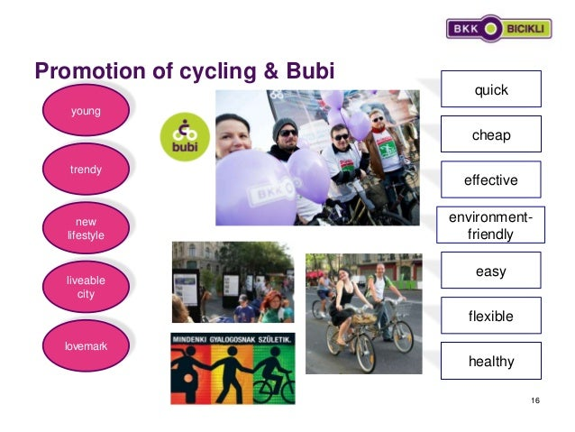 Promotion of cycling & Bubi 16 lovemark new lifestyle liveable city trendy healthy flexible quick effective easy environme...