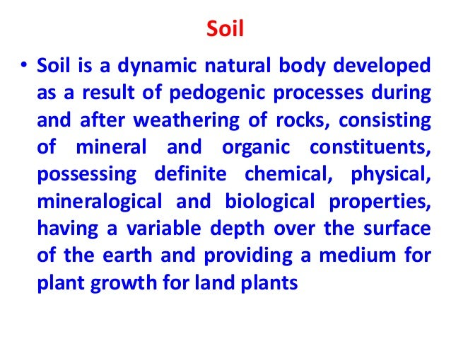 Physical And Chemical Properties Of Soil Fertility
