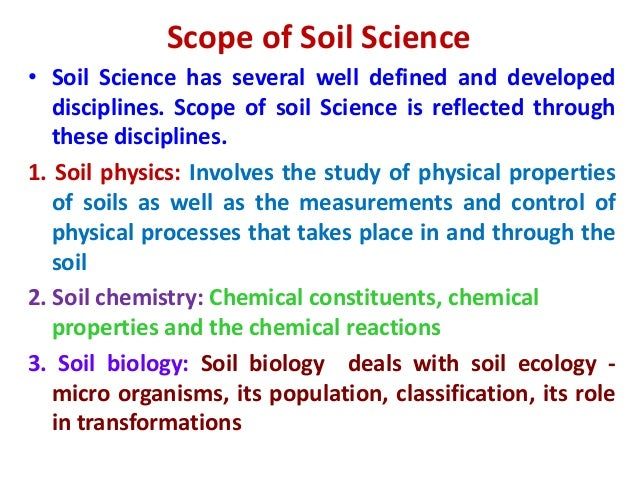 Introduction to soil science for Soil quality definition