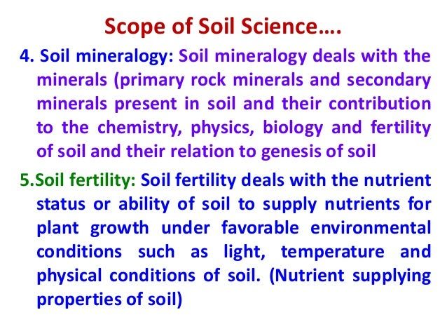 Introduction to soil science for Minerals present in soil