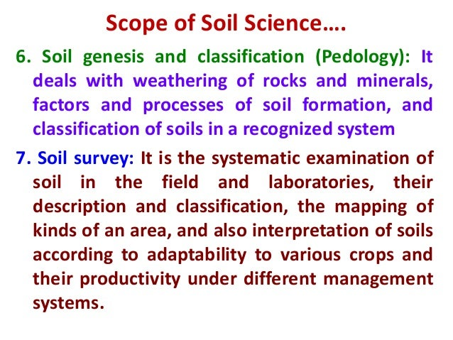 Introduction to soil science for Soil genesis