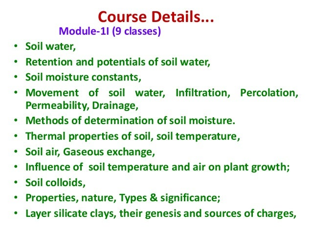 Introduction to soil science for Nature and composition of soil