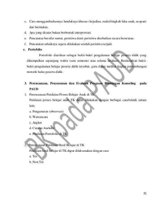 Contoh Laporan Pelayanan Bk Di Tk Kumpulan Contoh Laporan
